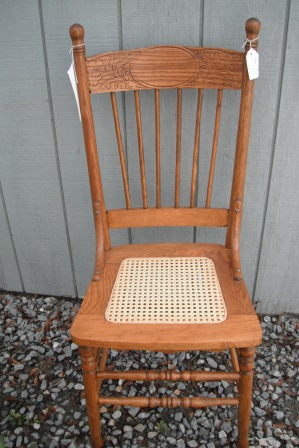 restored antique oak caned chair with pressed back 2 for sale c0046 - Antique Furniture For Sale